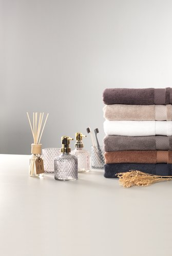 Guest towel NORA light brown