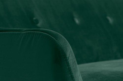 Soffa EGEDAL 2,5-sits sammet mörkgrön
