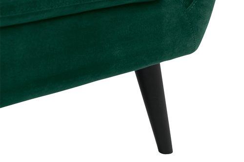 Sofa EGEDAL 2,5-seter fløyel mørk grønn