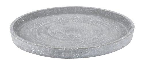 Декоративный поднос VILI Ø25см серый
