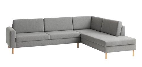 Sofa SVALBARD åpen ende høyre lys grå