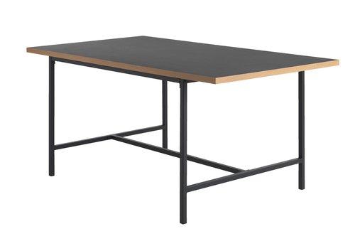 Dining table EGUM 90x160 black/oak