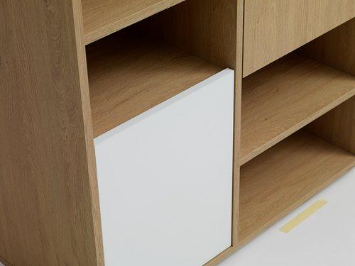 Βιβλιοθήκη BILLUND 3 πόρτες λευκό/δρυς