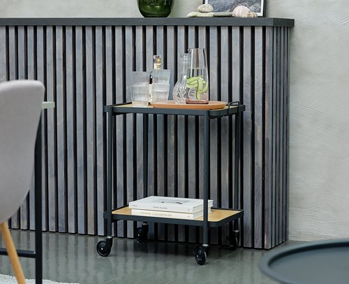 Ruokapöydän tuoli JONSTRUP harmaa/tammi