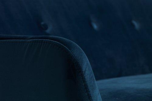2,5-zitsbank EGEDAL fluweel donker blauw