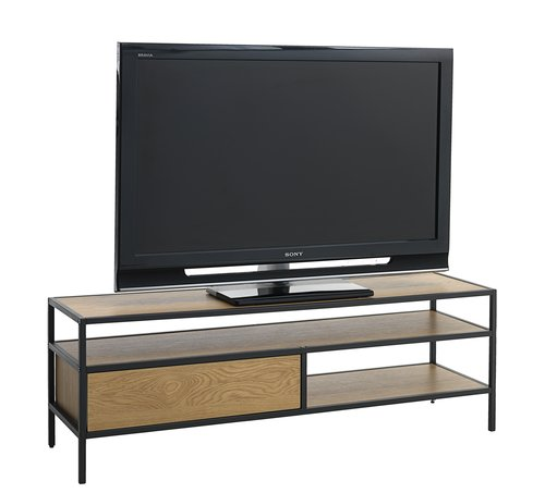 TV bench TRAPPEDAL oak/black
