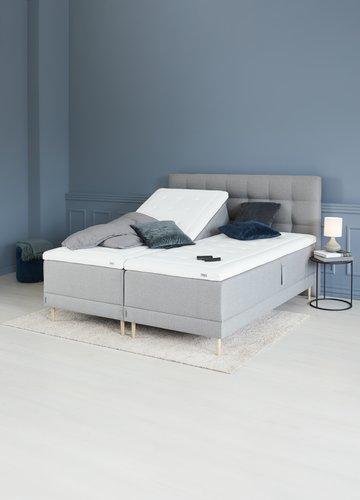 Ställbar säng 180x200 HOIE 250 grå-23