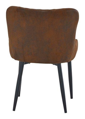 Cadeira jantar NEW YORK castanho vintage