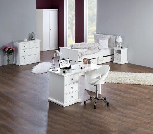 Cadeira escritório VIBORG branco/metal