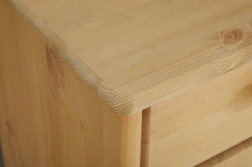 Nachttisch MIA 2 Schubladen gebeizt