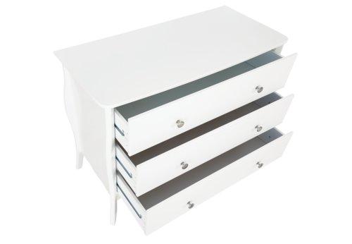 Kommode LEMVIG 3 Schubladen weiß