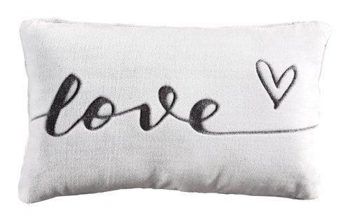 Cuscino LOVE 30x50 bianco/grigio