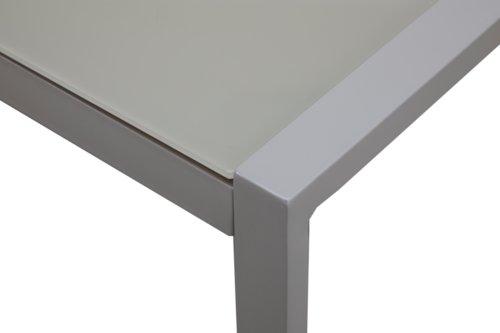 Set lounge GIBRALTAR 4 pers. bianco/gri.