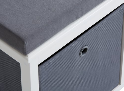 Sitzbank TARP/ODBY weiß/grau