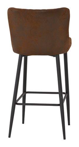 Barstuhl SAN DIEGO mit Rückenlehne braun