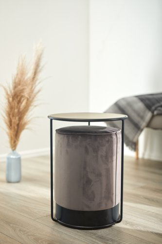 Beistelltisch & Pouf RYSLINGE schwarz/gr