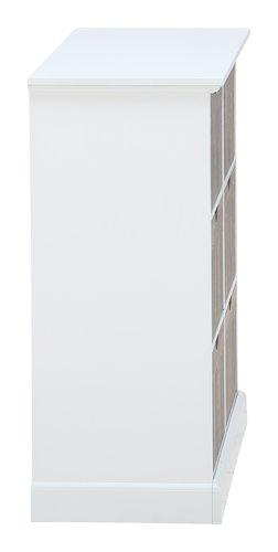 Kommode ORLANDO 6 Schubladen weiß/grau