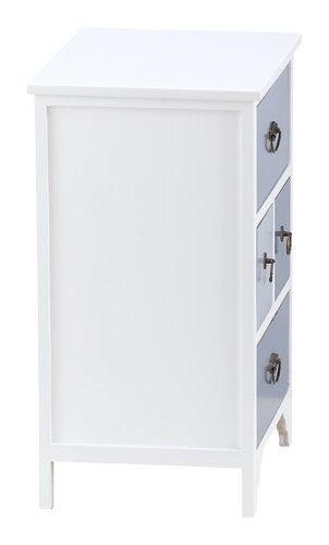 Kommode KLIPPEDE 4 Schubladen weiß/grau