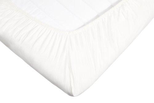 Drap-housse SM Jersey 160x200x14cm blanc