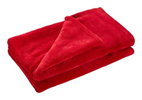 Manta UNI DE LUXE forro 140x200 rojo