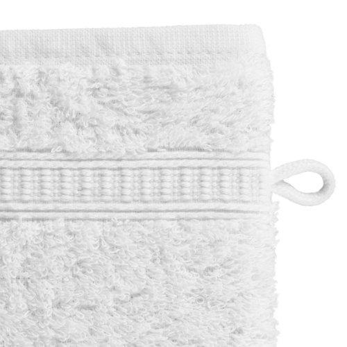 Guanto da bagno KRONBORG DE LUXE bianco