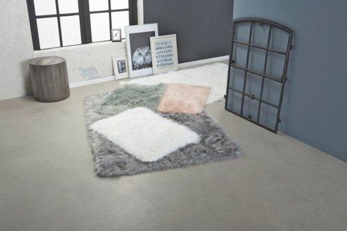 Teppich SOLDUG 60x90 weiß