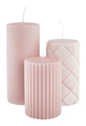 Vela grossa ALFRED rosa 3uds/emb
