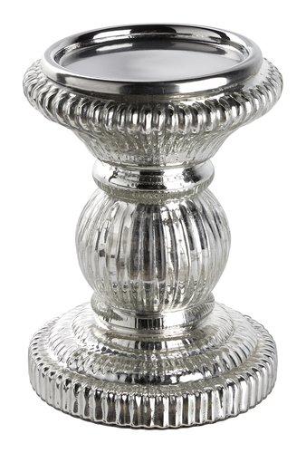 Portacandela LARSSON Ø11xH15cm argento
