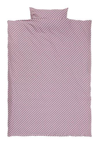 Conj capa edredão TWEED 160x220 vinho