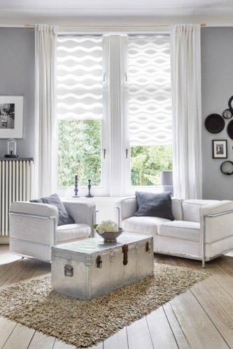 Doppelrollo EIKA 100x160 weiß