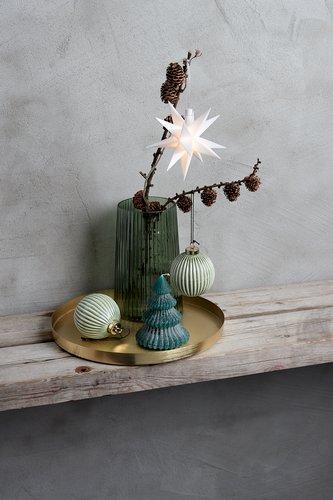 Tavă decorativă FRITS 30x2cm alamă