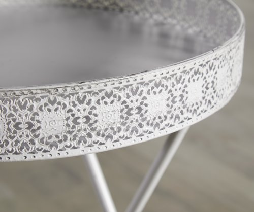 Tavolino BRYNE Ø40 bianco