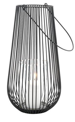 Lanterna MELIAS Ø24xH46cm nero