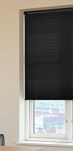Plisségardin HOVDEN 80x160cm sort