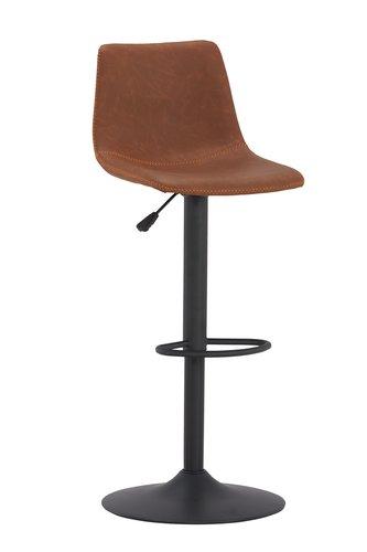 Taburete de bar BROAGER marrón