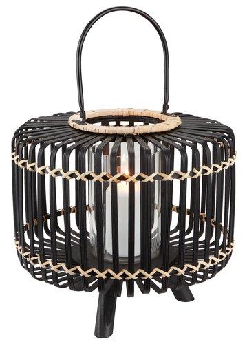Фенер ENTITA Ø38xВ32 см бамбук черен