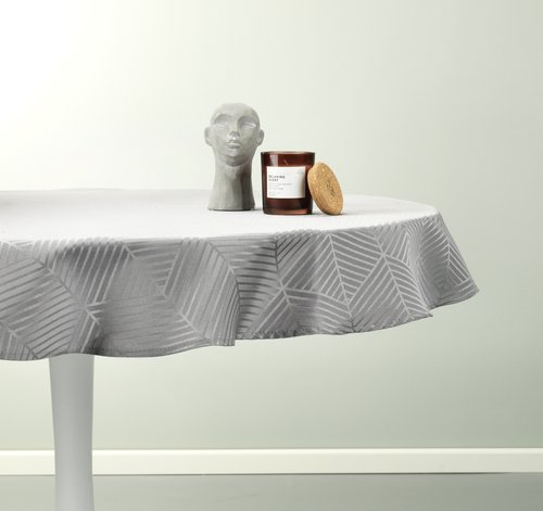 Tablecloth BLOMME D120 grey