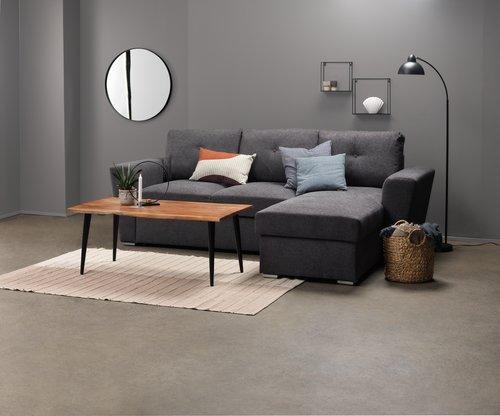 Καναπές-κρεβάτι με σεζλόνγκ VEJLBY σκ.γκ