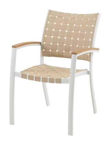 Sedia impilabile JEKSEN bianco