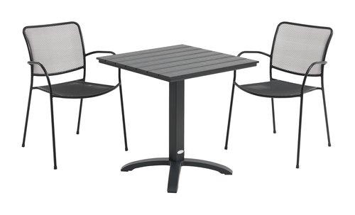 Stół bistro HOBRO S70xD70 czarny