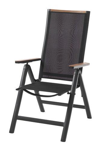 Раскладное кресло BREDSTEN черный
