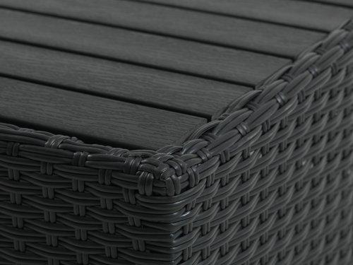 Table lounge AJSTRUP l70xL70 noir