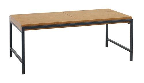 Table basse TRAPPEDAL 50x100 chêne/noir