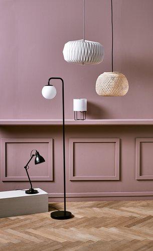 Stolna lampa PATRIK Ø14xV45cm crna