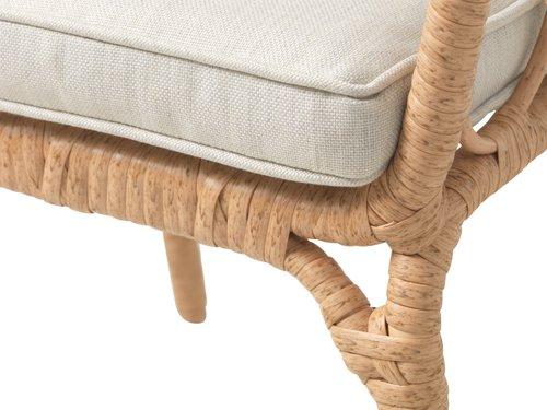 Lounge stol JENNUM naravna