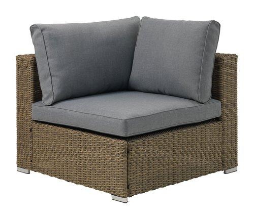 Lounge kutni modul DALL siva