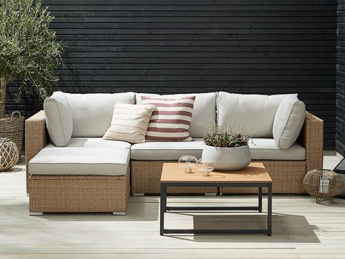 Loungeset DALL 4-sits natur
