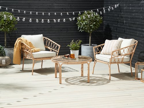 Loungeset JENNUM 2 pers. naturel