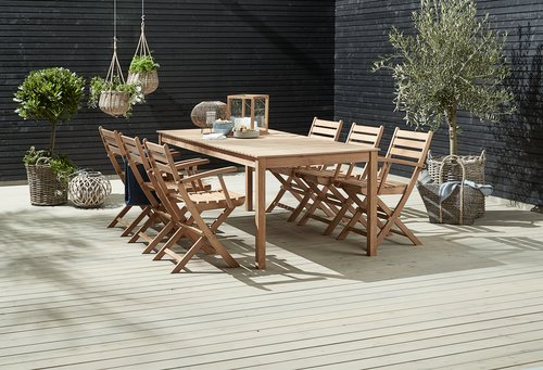 Table VESTERHAVET W90xL210 solid teak