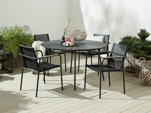 Tisch RANGSTRUP Ø130 schwarz